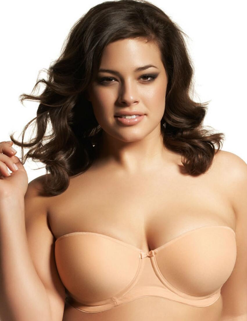 1230 Elomi Smoothing Foam Moulded Strapless Bra - 1230 Nude