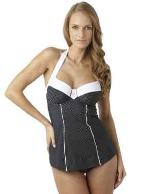 SW0820 Panache Britt Halterneck Swimsuit - SW0820 Black