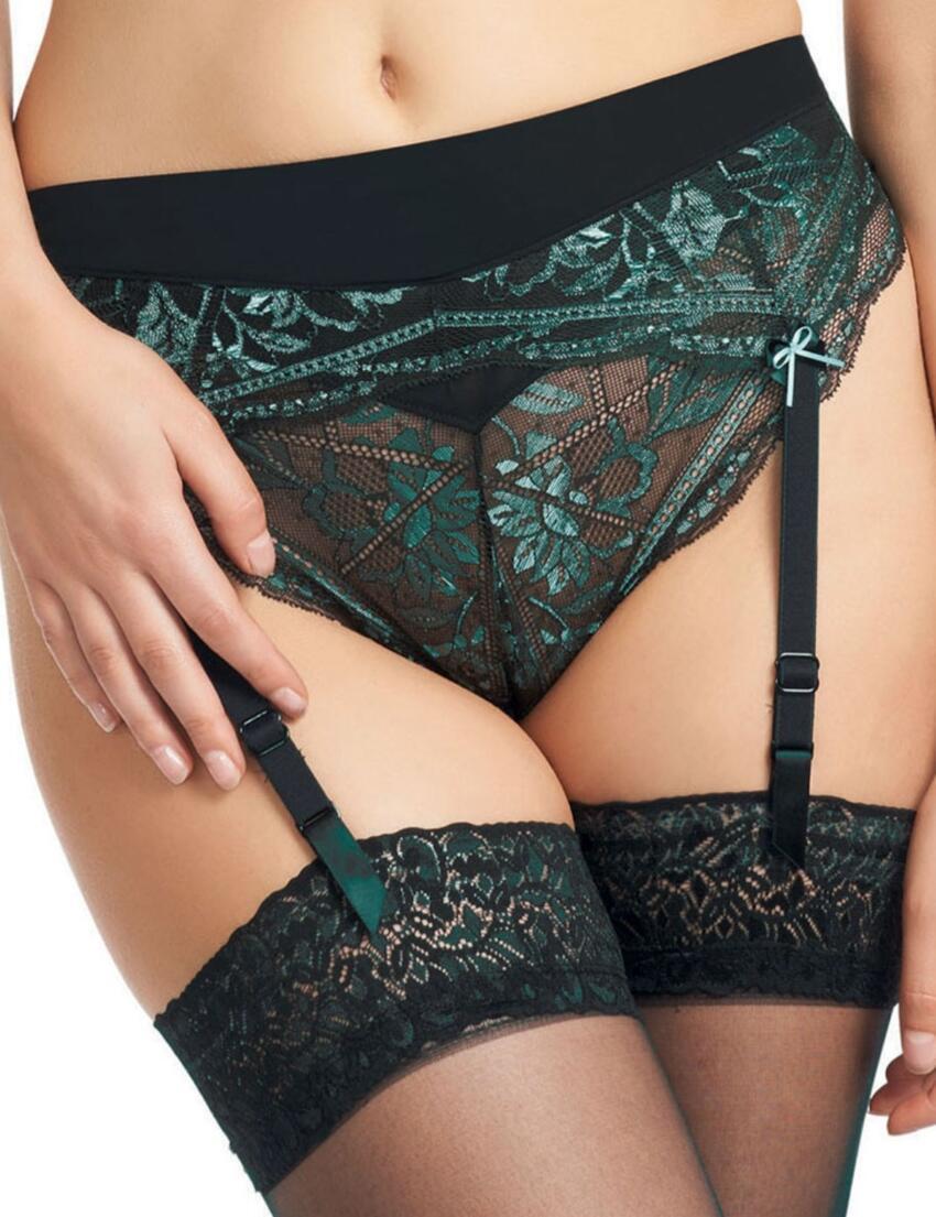 0368 Fauve Agnes Suspender Belt Noir - 0368 Suspender
