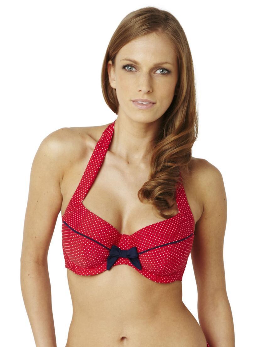 SW0822 Panache Britt Halterneck Bikini Top - SW0822 Halterneck Red