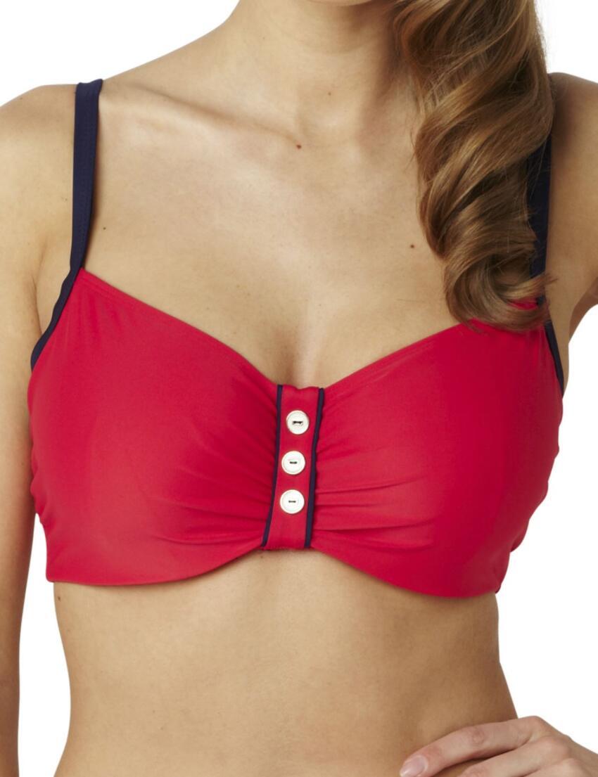 SW0642 Panache Veronica Balcony Bikini Top - SW0642 Red/Navy