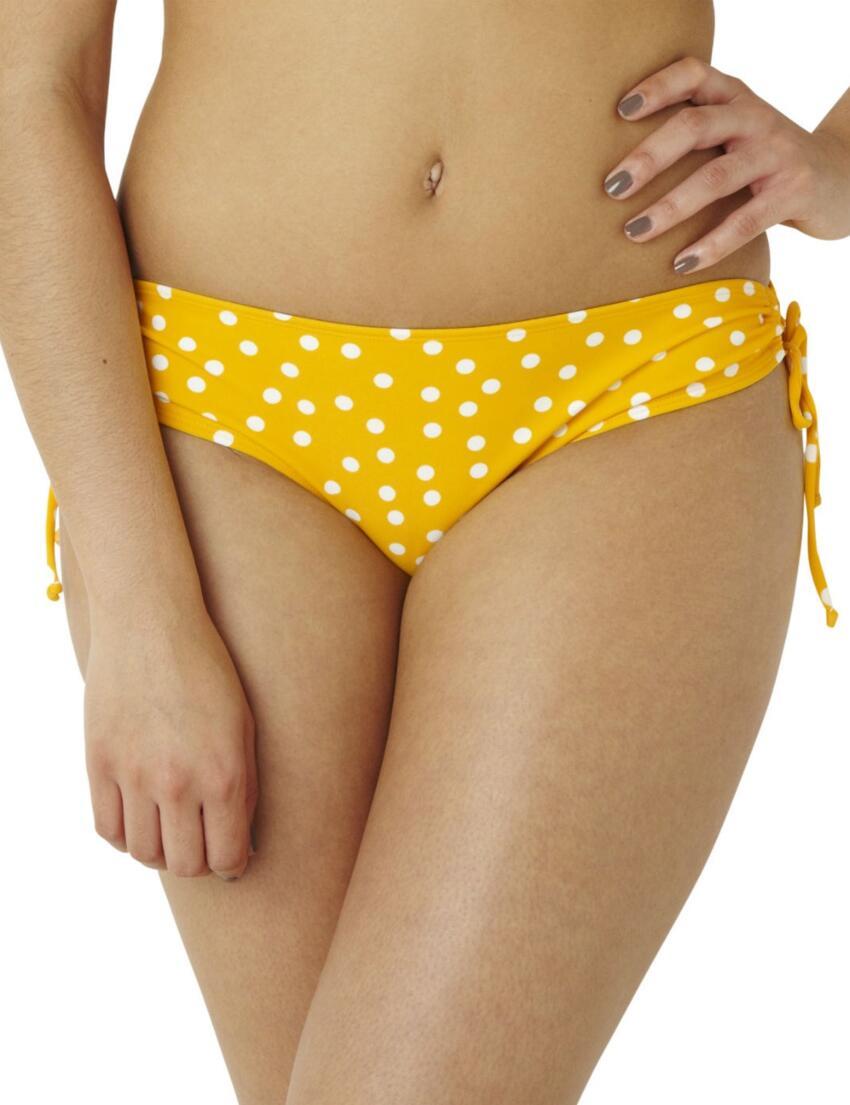 CW0038 Cleo Betty Drawstring Bikini Brief Yellow Spot - 0038 Drawsting
