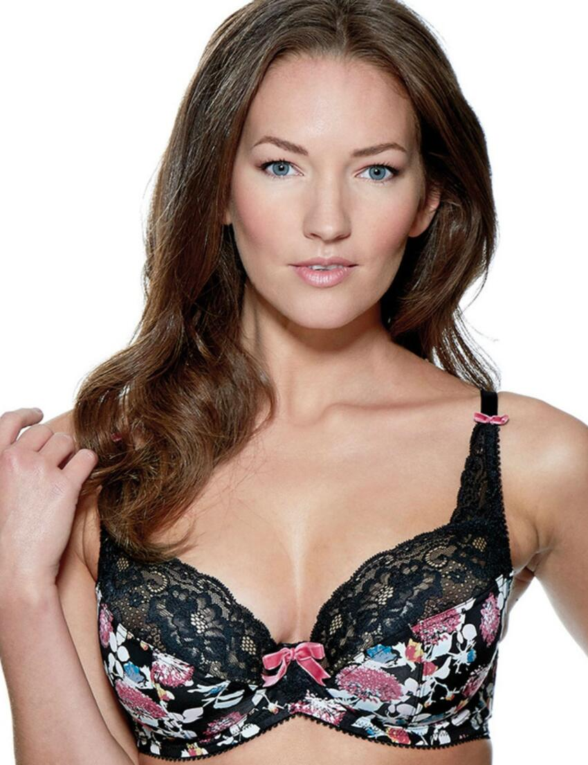1433010 Charnos Flamenco Full Cup Bra Black  - 1433010 Full Cup Bra
