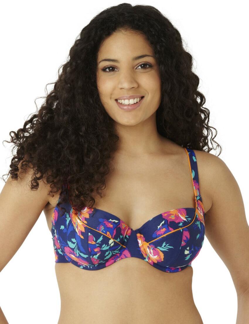 CW0152 Cleo Cassie Balconette Bikini Top Floral Print - CW0152 Balcony Top