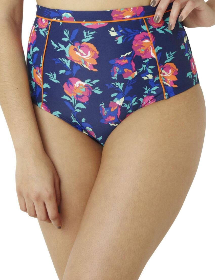 CW0159 Cleo Cassie High Waist Bikini Pant Floral Print - CW0159 High Waist Brief