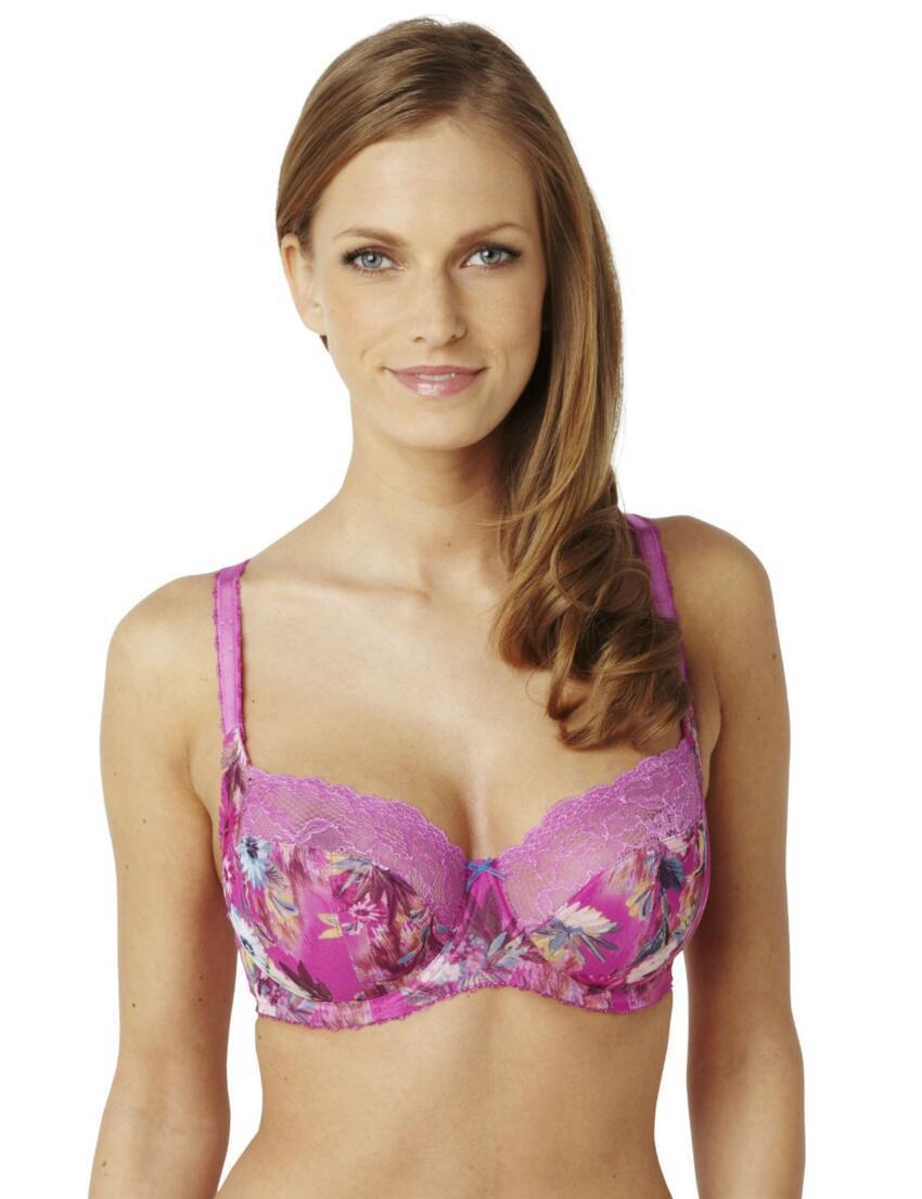 6951 Panache Jasmine Balcony Bra Pink Floral - 6951 Balcony Bra