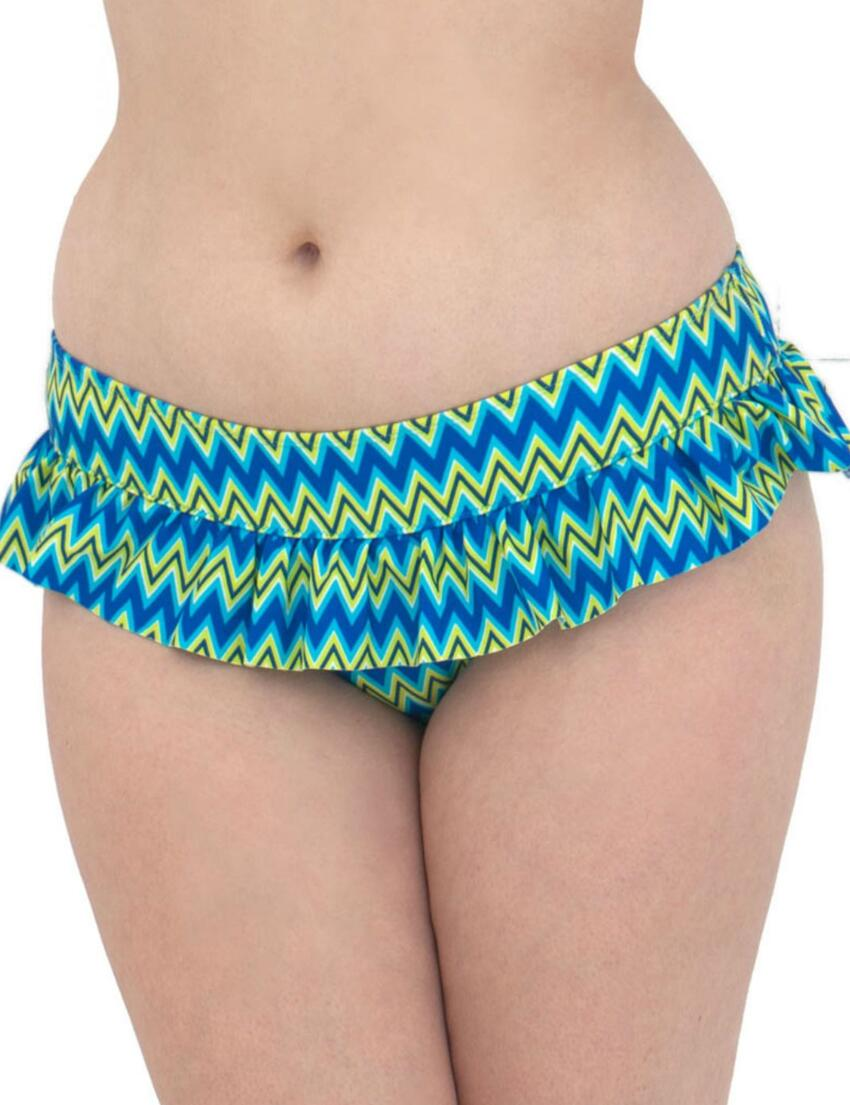 1235 Curvy Kate Shockwave Skirted Bikini Brief - CS1235 Electric Shock