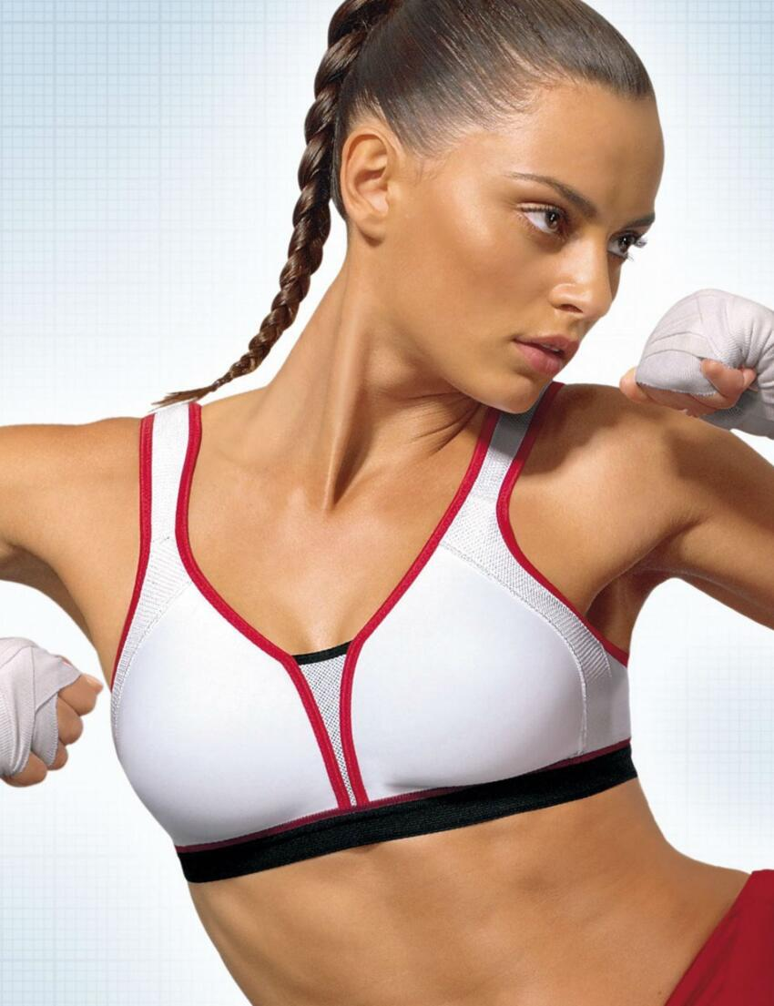 10053675 Triumph Triaction Extreme N Sports Bra - 10053675 Red/White