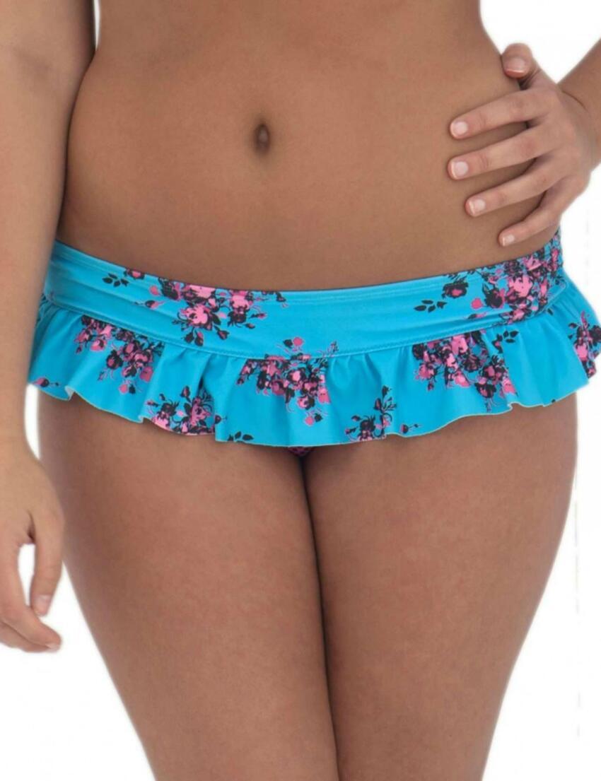 CS2135 Curvy Kate Beach Bloom Skirted Brief Topaz/Floral - CS2135 Skirted Brief