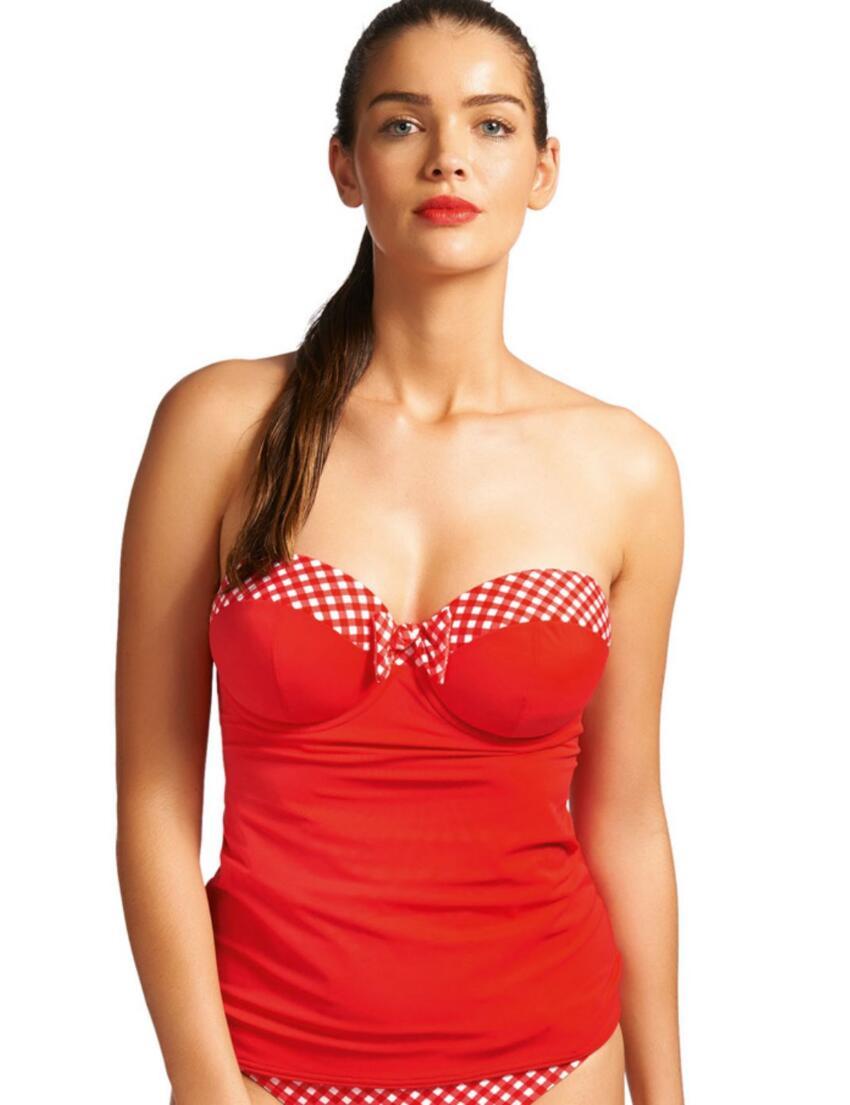 3605 Freya Tootsie Bandeau Tankini Top Poppy Red - 3605 Poppy Red