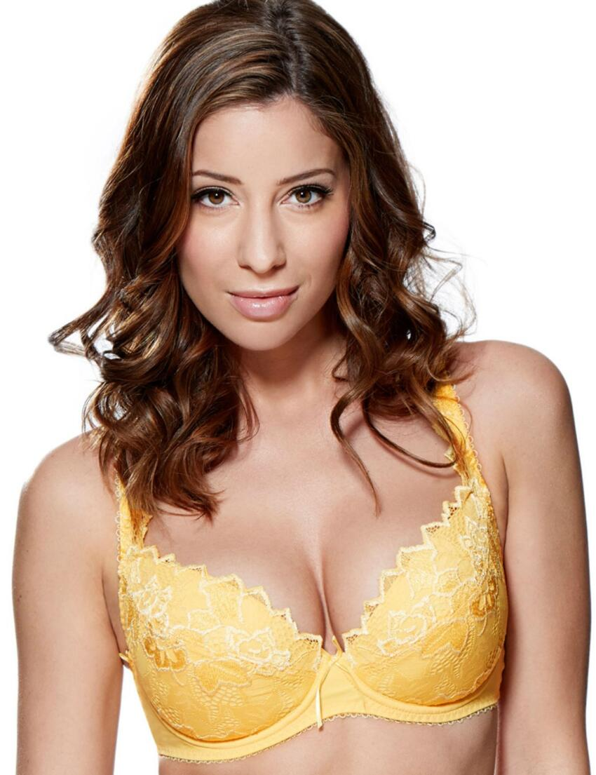 93200 Lepel Fiore Padded Plunge Bra FREE UK POST - 93200 Dandelion Yellow