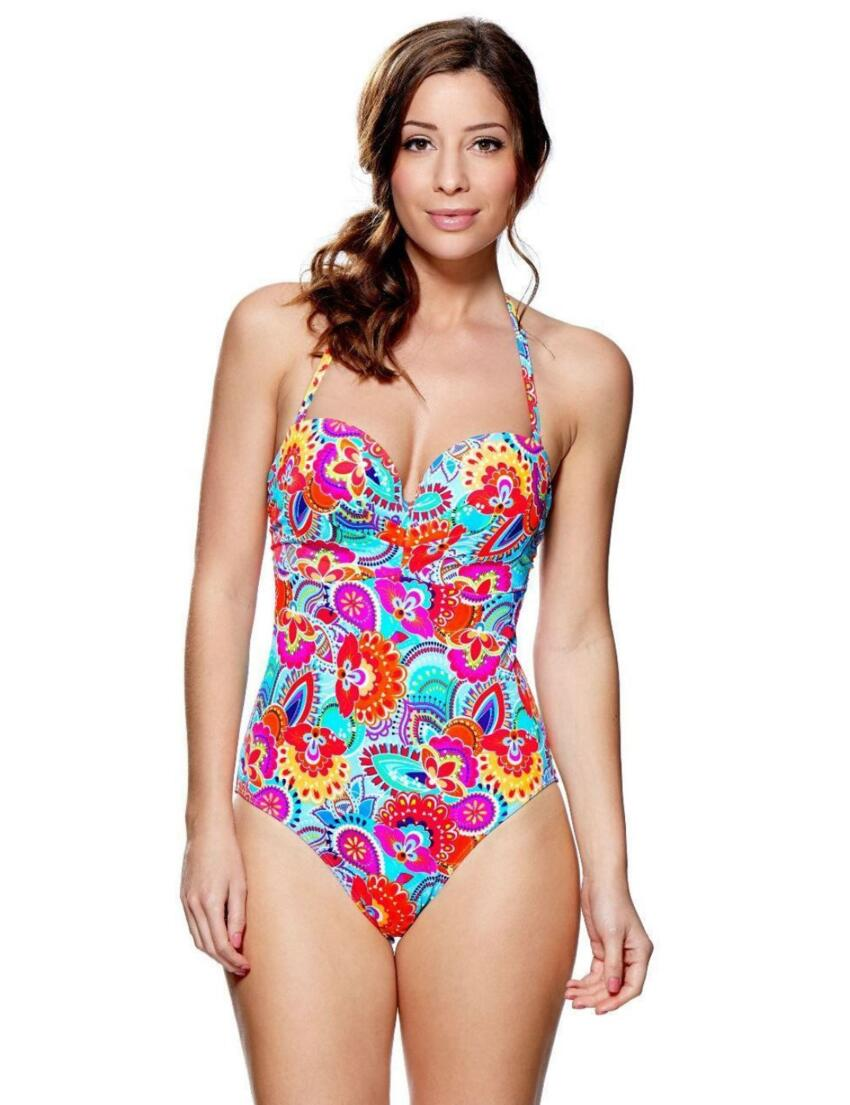 1474820 Lepel Fiesta Moulded Swimsuit Red Print - 1474820 Swimsuit
