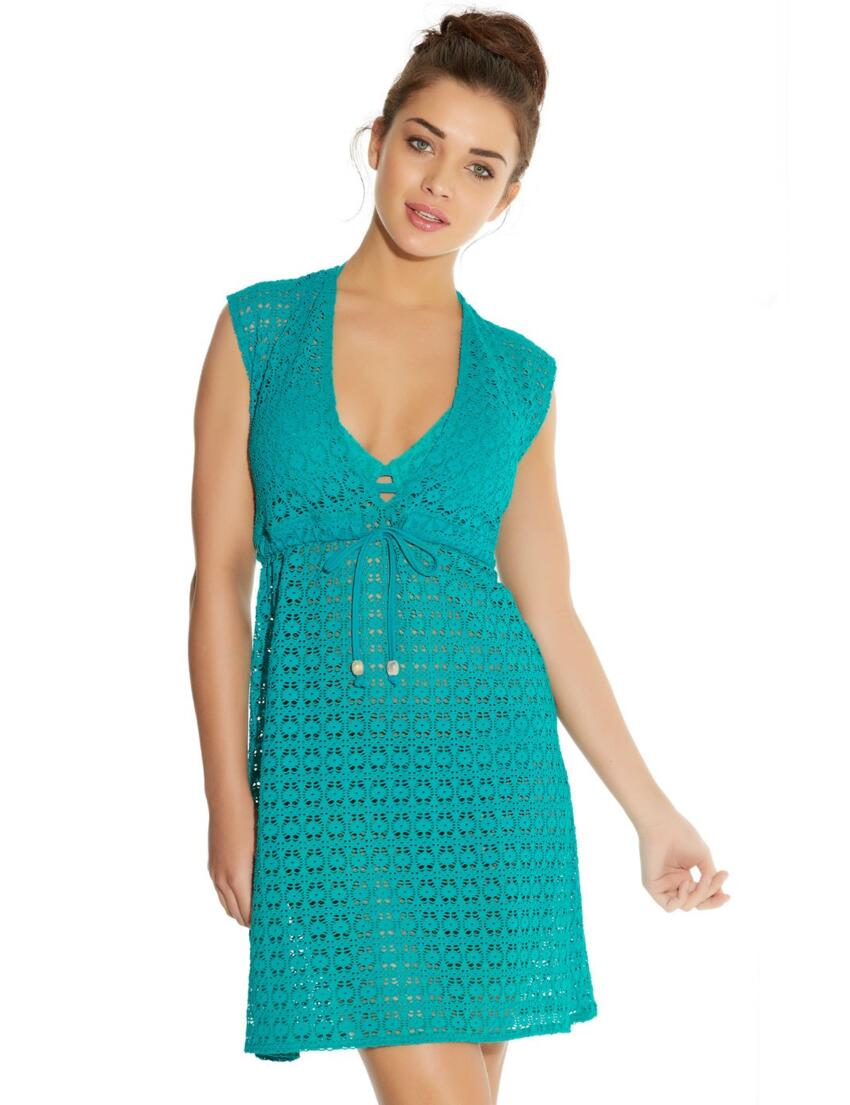 3908 Freya Spirit Beach Tunic Dress - 3908 Jade