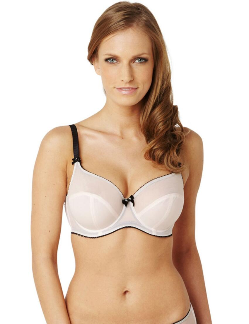 7831 Panache Black Eclipse Balcony Bra Blush - 7831 Balcony Bra