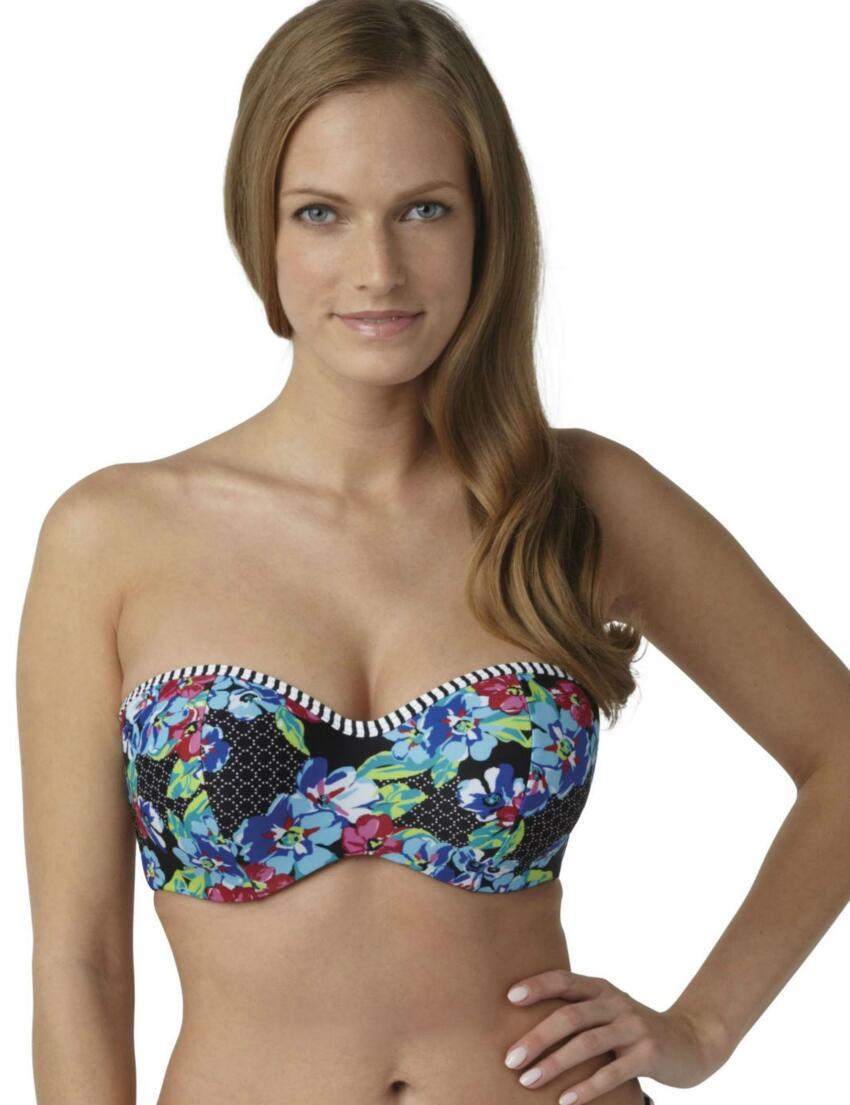 SW0783 Panache Elle Bandeau Bikini Top Floral Print - SW0873 Bandeau top