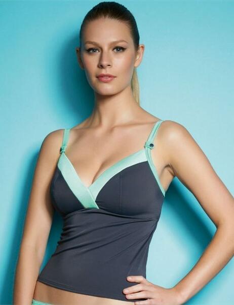 3174 Freya Swimwwear Samba Tankini Top Graphite - 3174 Tankini Graphite