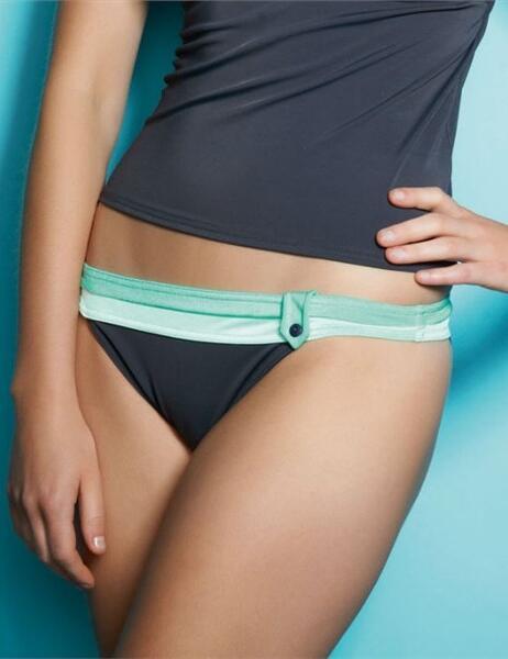 3177 Freya Samba Retro Bikini Brief Graphite - 3177 Retro Brief Graphite