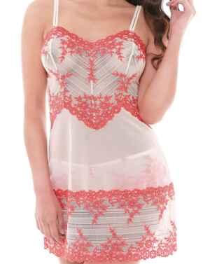 0814191 Wacoal Embrace Lace Chemise  - 814191 Antique White/Sugar Coral