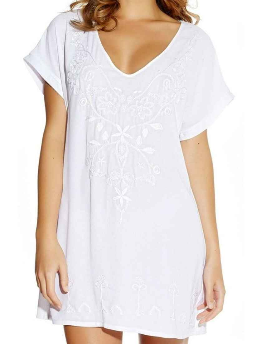 73eaa4f000823 Outlet · 5031 Fantasie Thea Embroidered Beach Tunic Dress - 5031 White