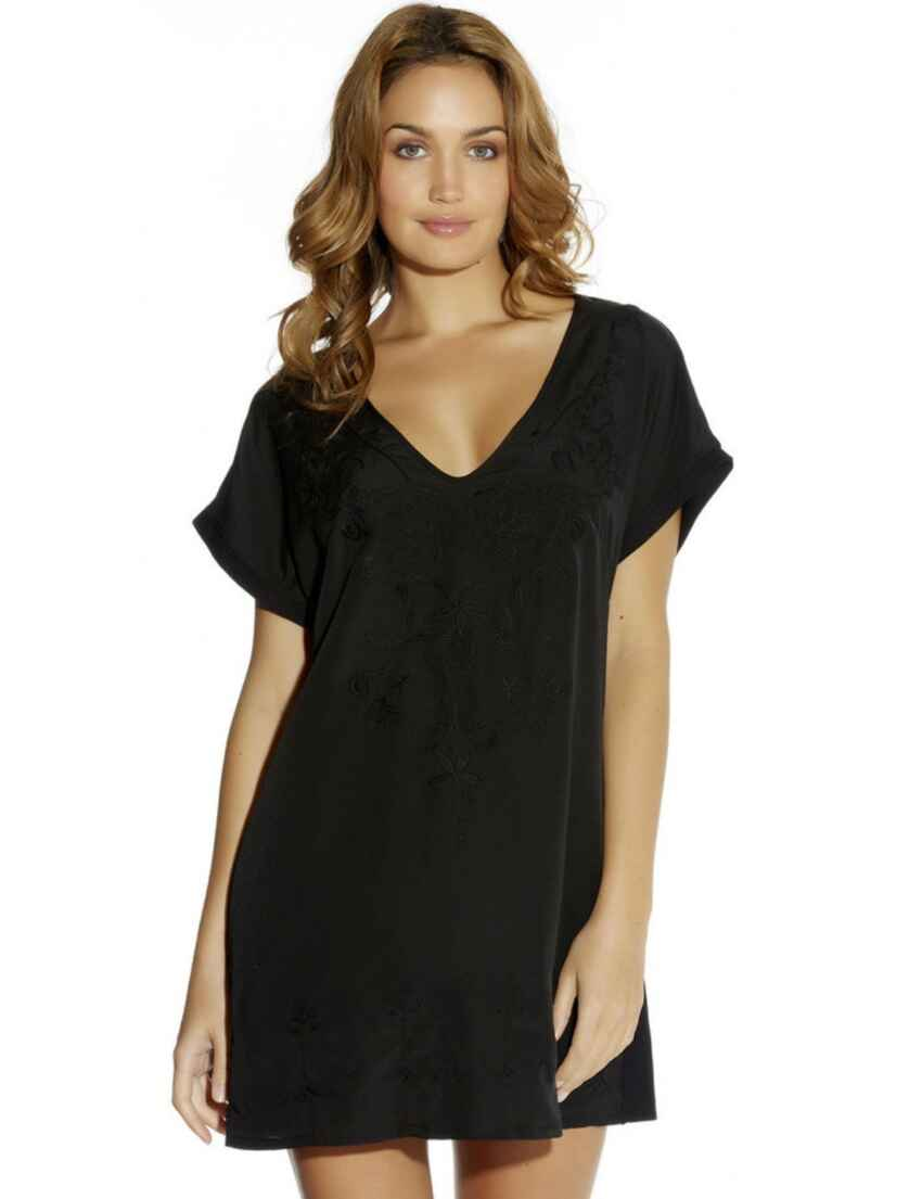 b292490edb Outlet · 5031 Fantasie Thea Embroidered Beach Tunic Dress - 5031 Black
