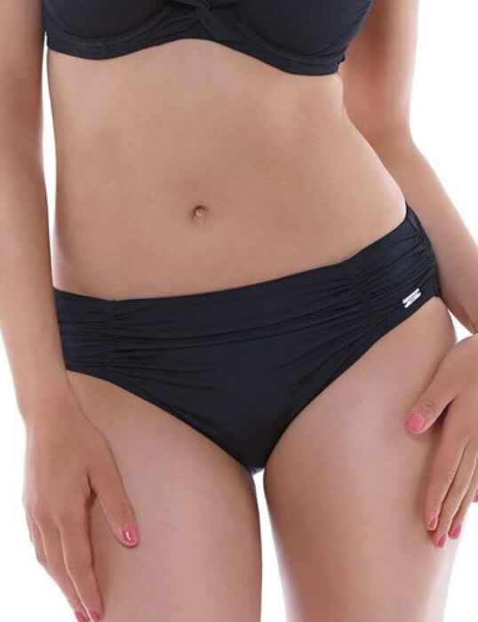 8ec2ca480e8e3 Save · 6155 Fantasie Los Cabos Gathered Bikini Brief Black - 6155 Gathered  Brief