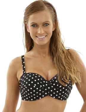 SW1013 Panache Anya Spot Bandeau Bikini Top - SW1013 Black/White