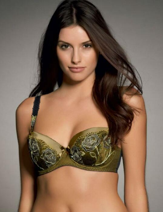 0231 Fauve Dali Padded Half Cup Bra Verde Green - 0231 Half Cup