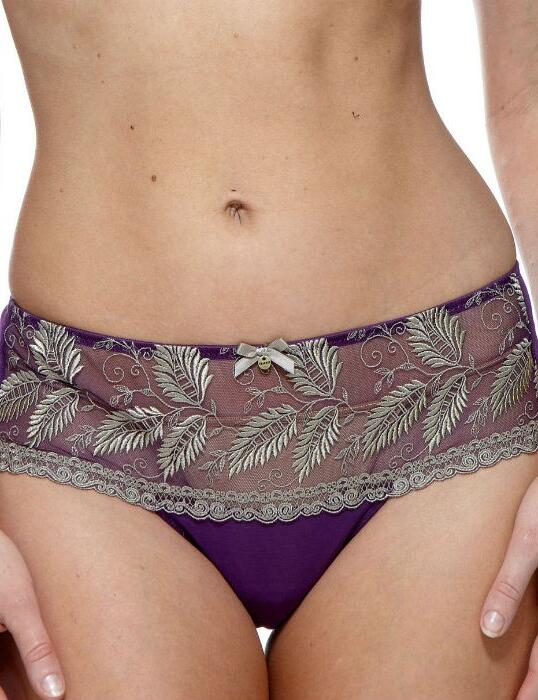 1127120 Charnos Sophia Deep Thong Berry/Gold - 1127120