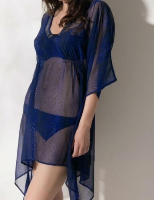 5588 Fantasie L A Midi Kaftan Persian Blue - 5588 Kaftan