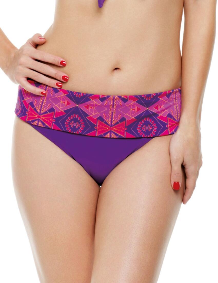 SW0787 Panache Savannah Fold Bikini Brief - SW0787 Gypsy Print