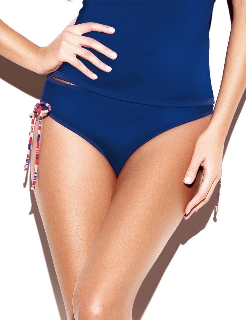 SW0732 Panache Stella Drawside Bikini Pant Navy - SW0732 Bikini Pant