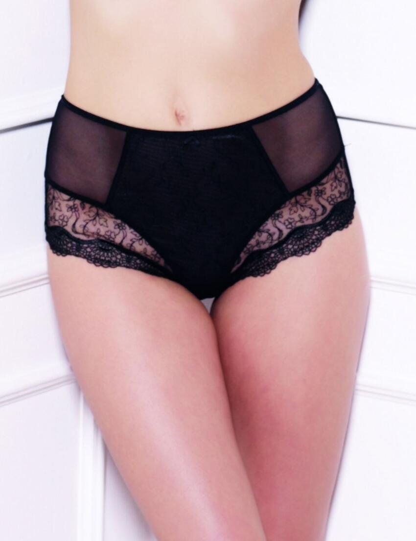 6695 Panache Lingerie Elsa High Waist Brief Black - 6695 Deep Brief