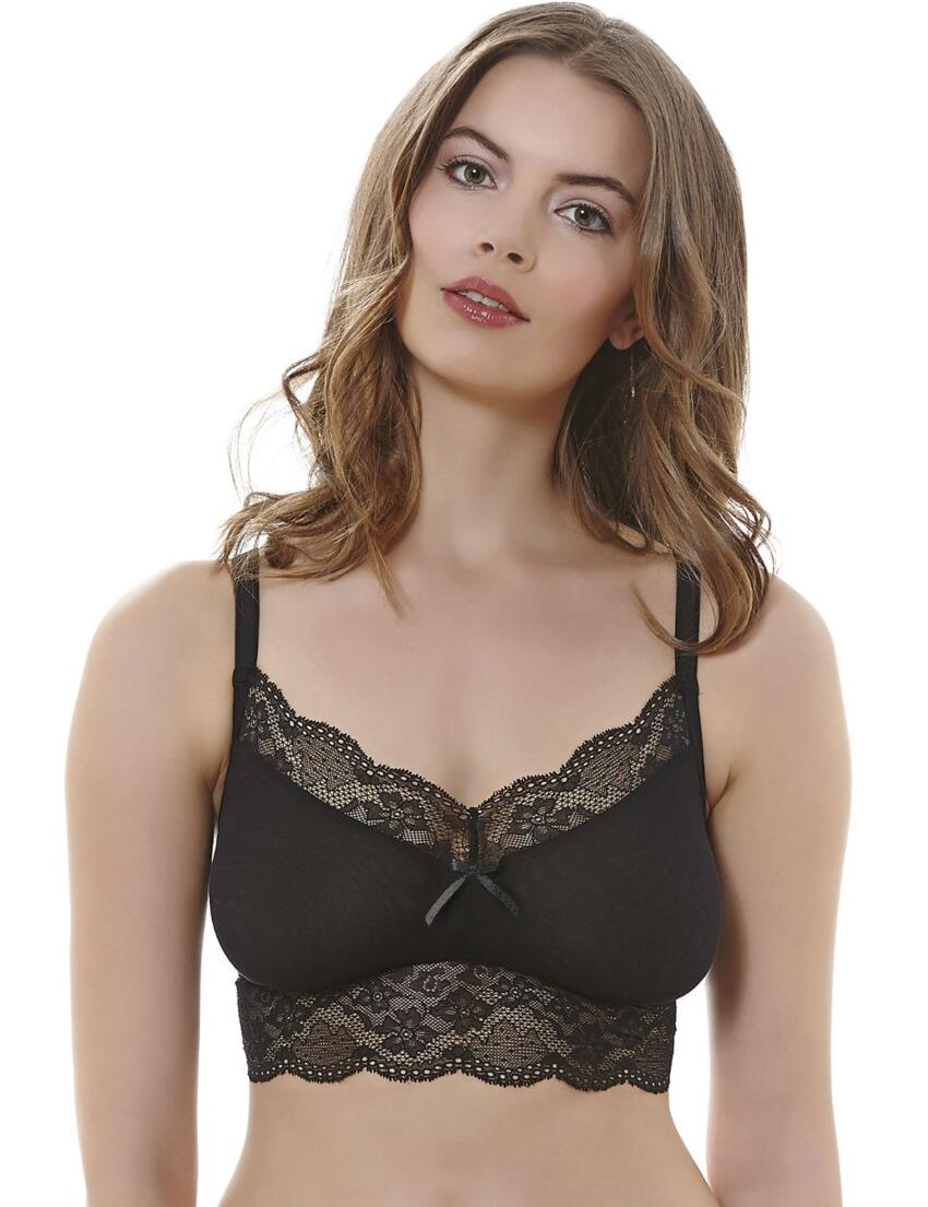 1010 Freya Fancies Bralette Bra Top - 1010 Black