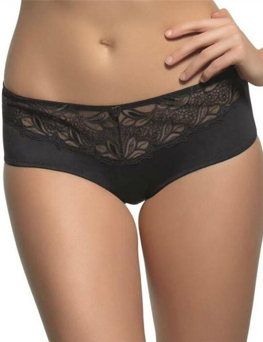 6052 Panache Melody Brief Black/White/Nude - 6052 Black
