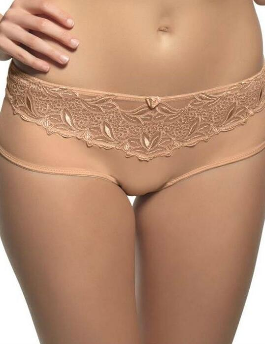 6052 Panache Melody Brief Black/White/Nude - 6052 Nude
