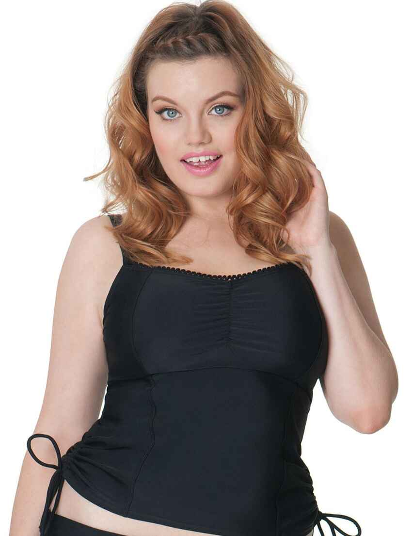 f0b4a705efe8c Save · CS3506 Curvy Kate Jetty Balcony Tankini Top - CS3506 Black
