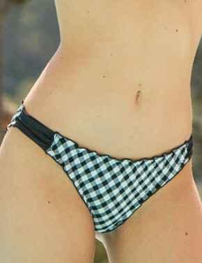 67004 Pour Moi Checkers Tab Bikini Brief - 67004 Black/White