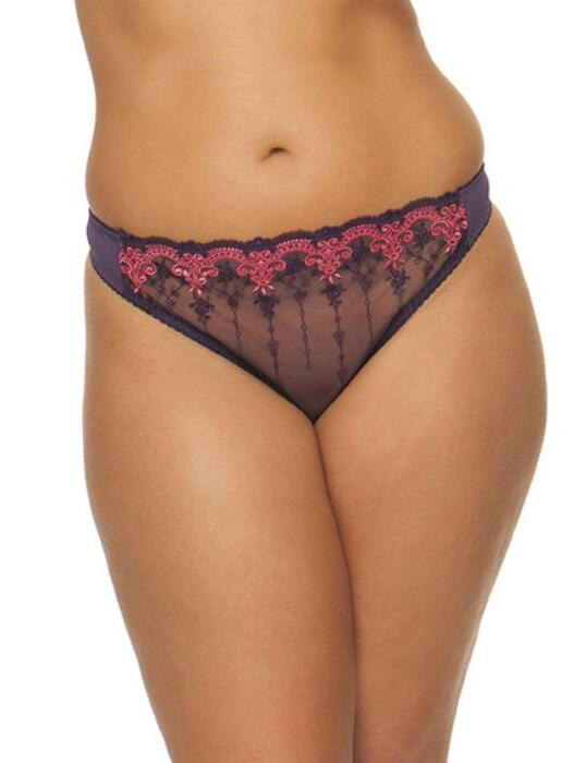 1502 Cury Kate Romance Thong Plum/Watermelon - 1502 Thong