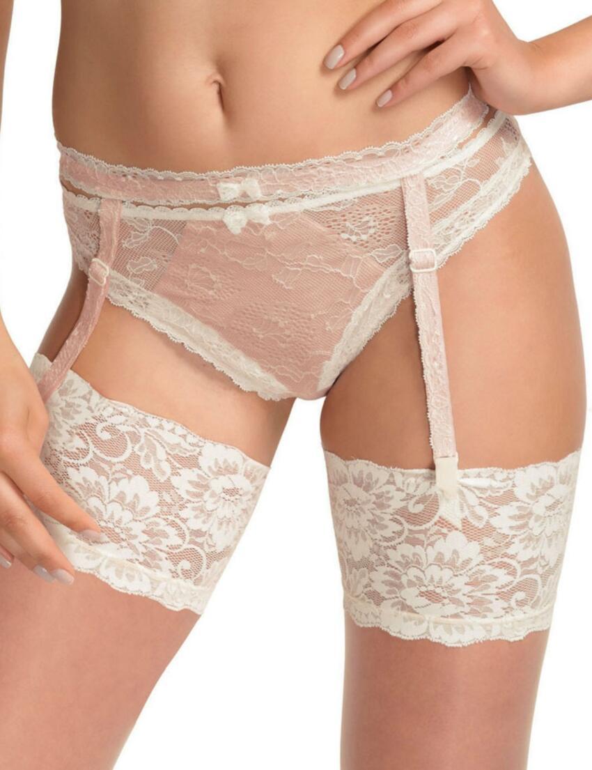 2408 Fantasie Susanna Lace Suspender Belt - 2408 Petal