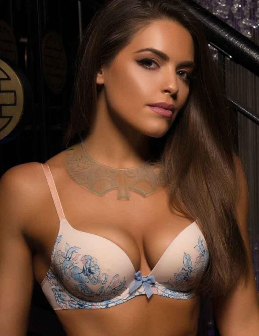8100be5131 Save · 12301 Gossard China Blue Moulded Bra Floral Print - 12301 Plunge Bra