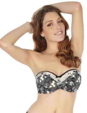 SW0803 Panache Erica Bandeau Bikini Top - SW0803 Black/Ivory