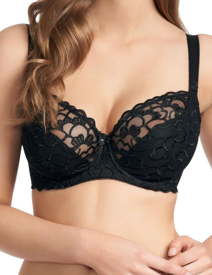 0312 Fauve Chloe Underwired Balcony Bra - 0312 Black