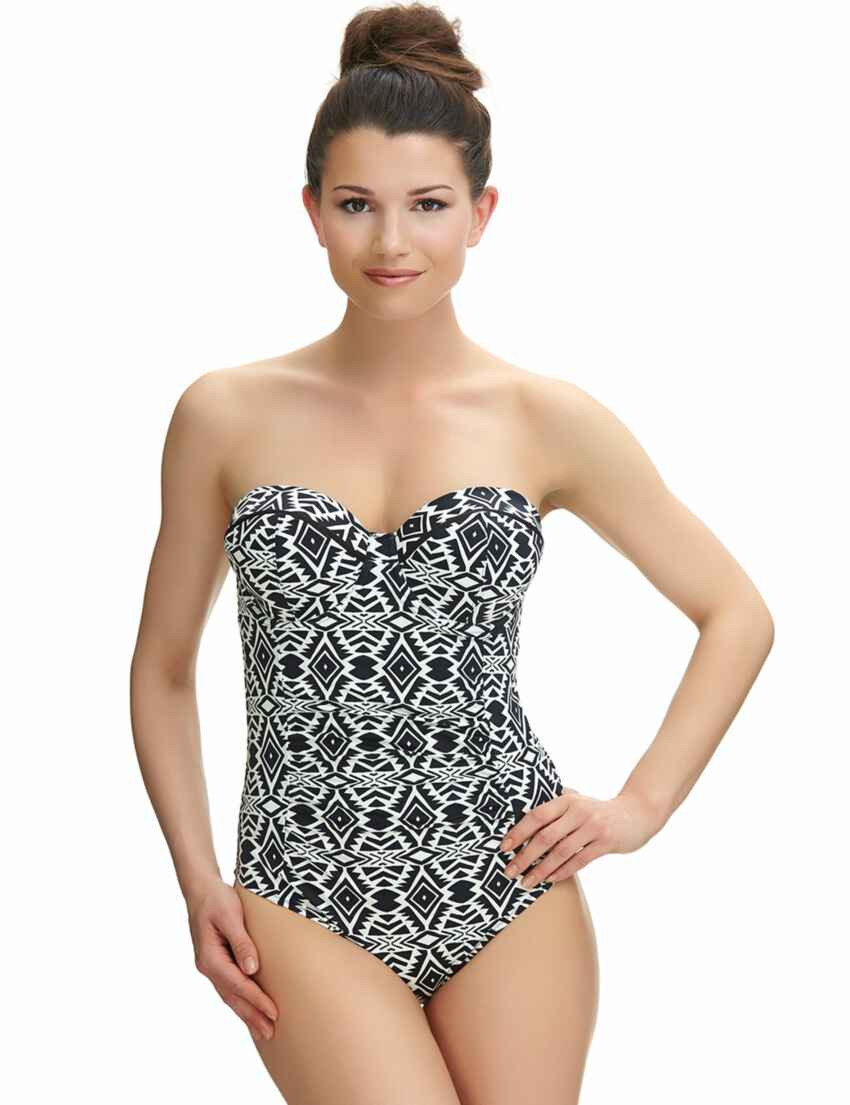 7fb2bd615b24e Outlet · 6351 Fantasie Beqa Bandeau Control Swimsuit - 6351 Control Swimsuit