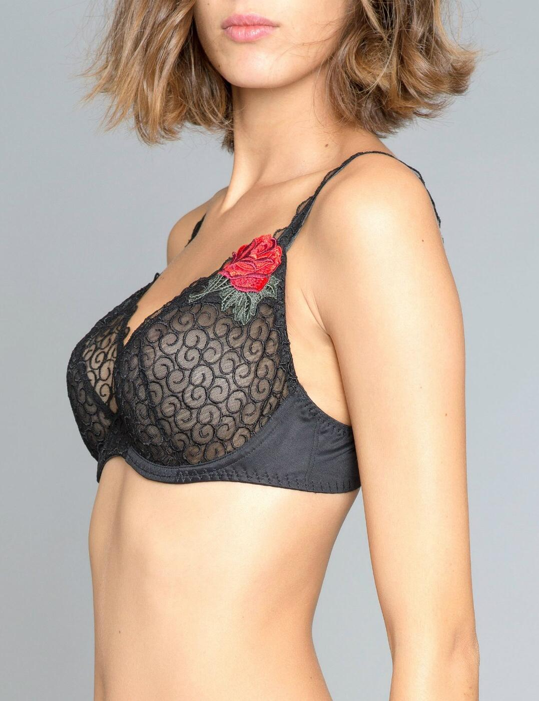 Maison Lejaby Rosae 3 Part Underwired Full Cup Bra 51633 New Luxury Lingerie