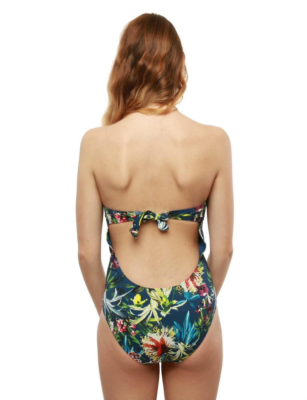 Moontide Botanical Twist Back Tie Twist Swimsuit Swimming Costume M4414BT