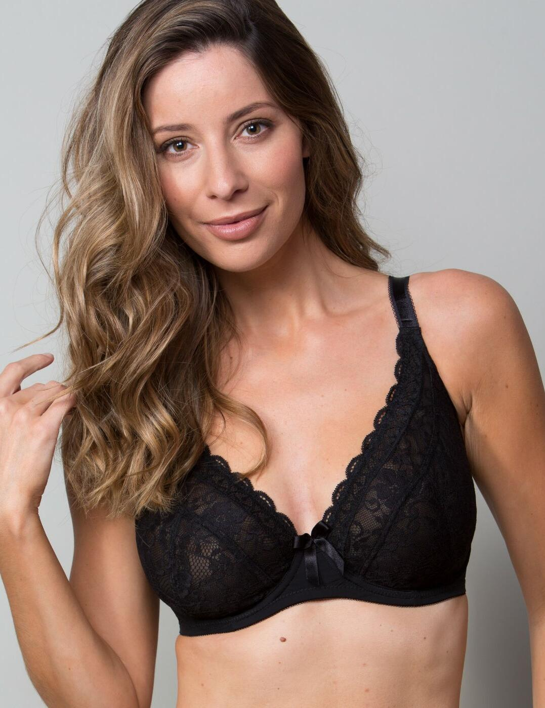 Pour Moi Rebel Bra 84002 Underwired Non-Padded Plunge Lingerie Womens Bras