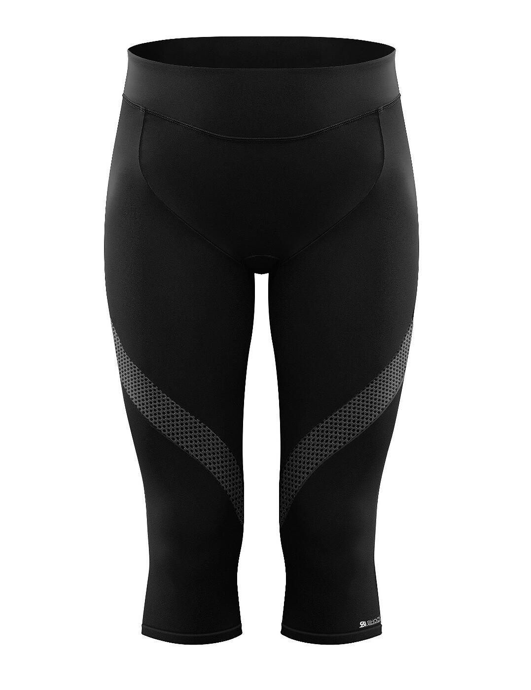 Shock Absorber Sports Activewear Capri Longueur Leggings S066C Noir