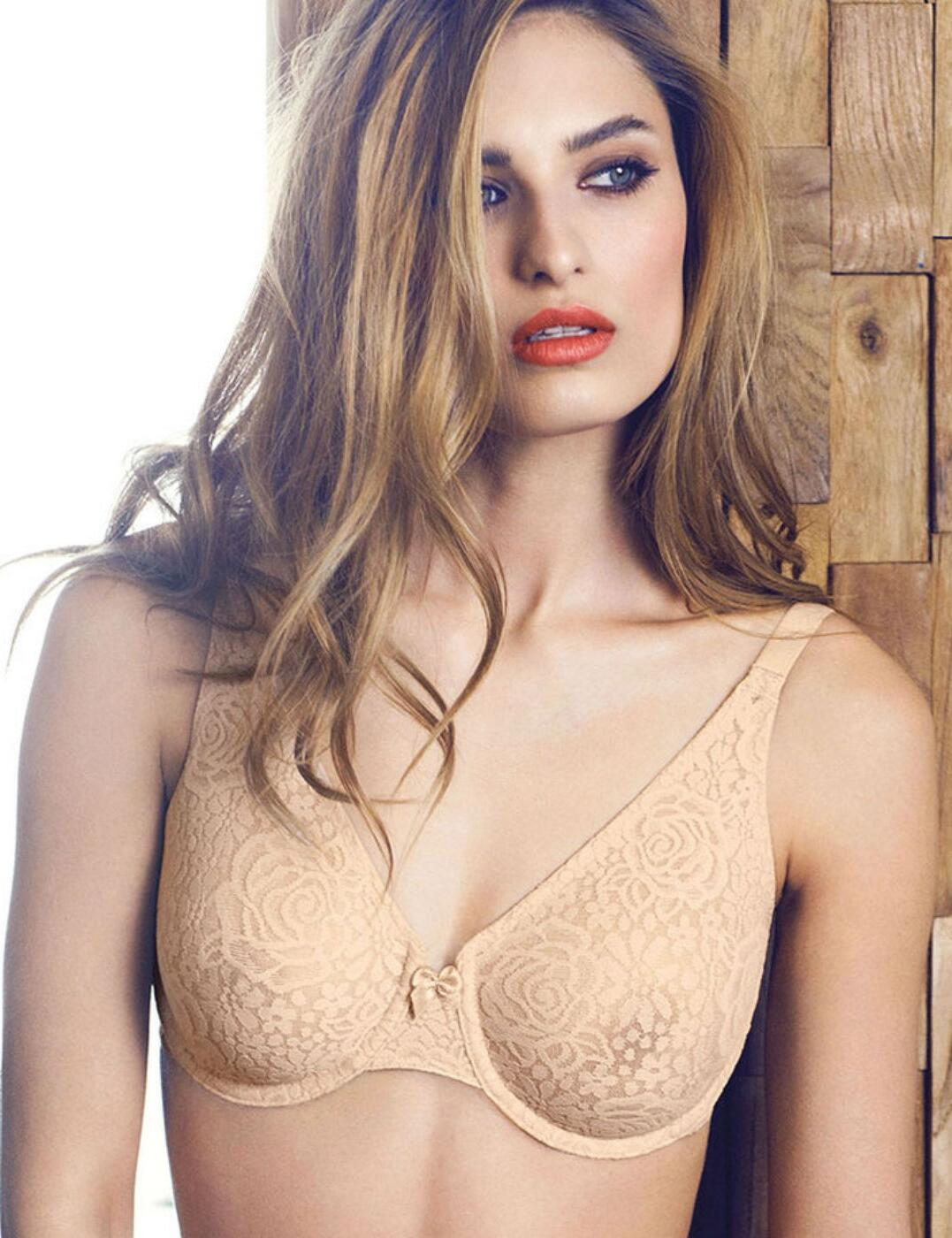 7736ccc755ba6 Wacoal Halo Lace Full Cup Bra 851205 Underwired Stretch Non Padded J Hook  40 D Nude. About this product. Picture 1 of 5  Picture 2 of 5  Picture 3 of  5 ...