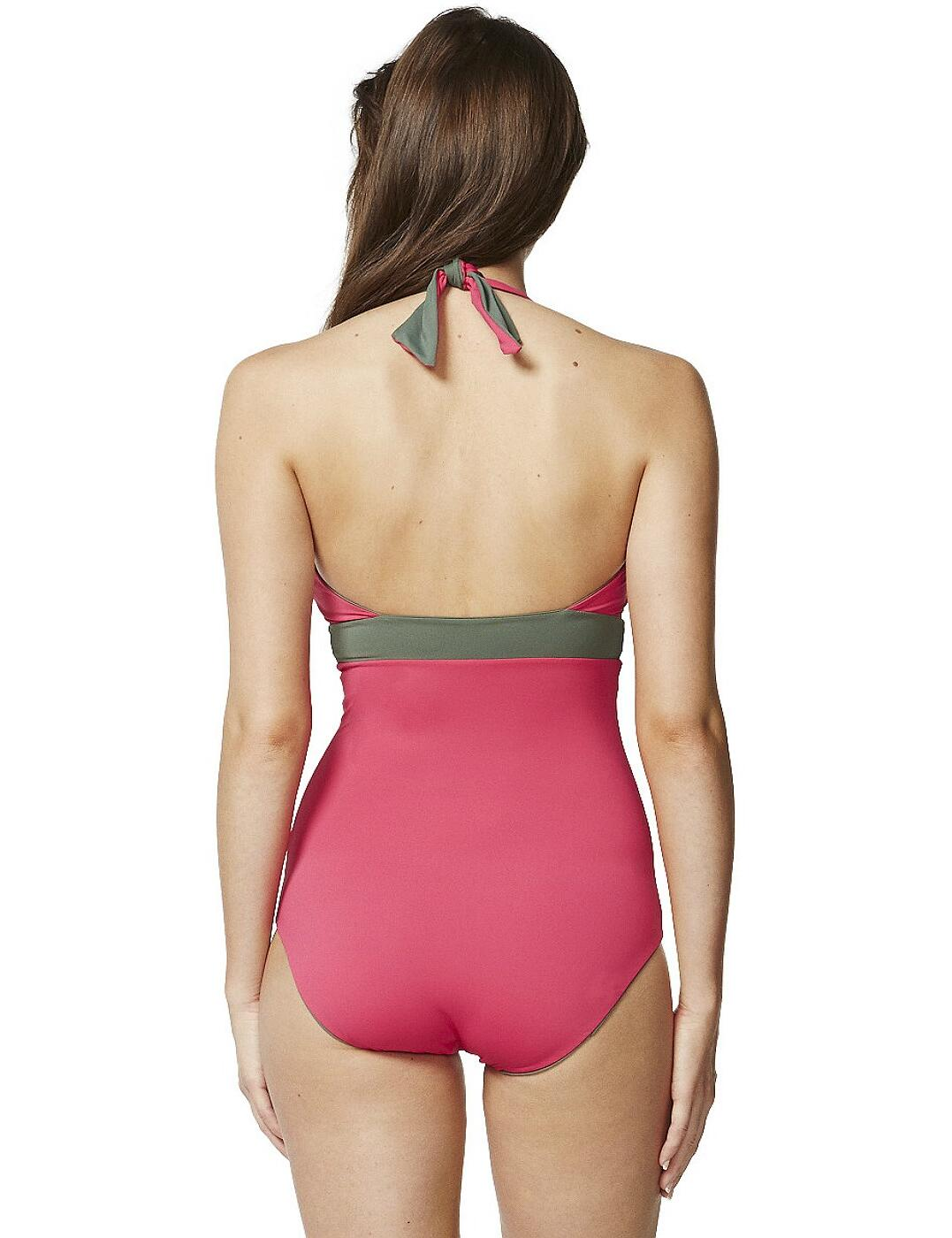 Moontide Reversible Solids Swimsuit M4417RS Halterneck Swimming Costume