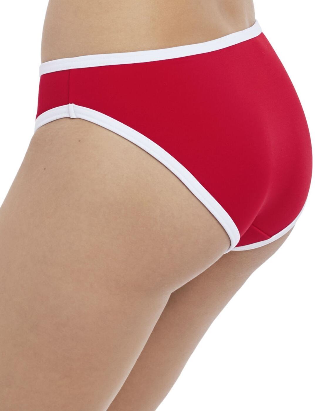 Freya peinture le rouge Town Bikini Bottoms Pantalon 2955 nouveaux maillots de bain rouge
